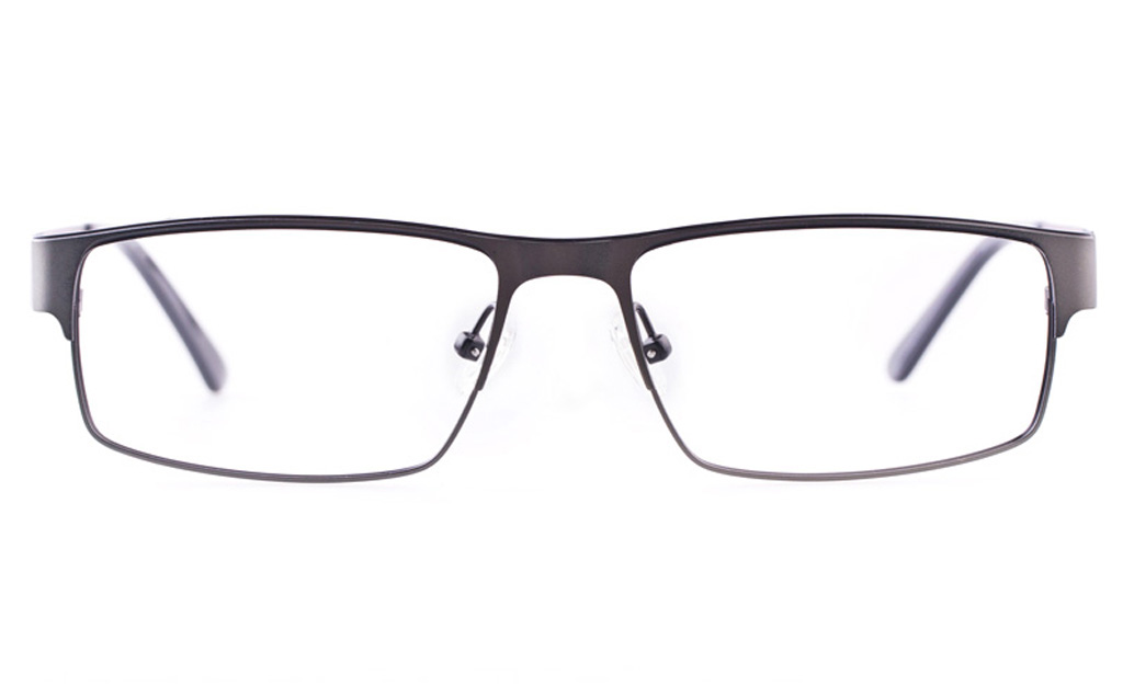Vista First U1122 Stainless steel Mens Rectangle Full Rim Optical Glasses