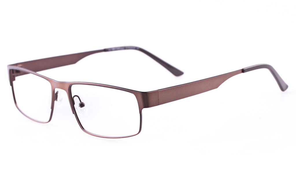 Vista First U1122 Stainless steel Mens Rectangle Full Rim Optical Glasses