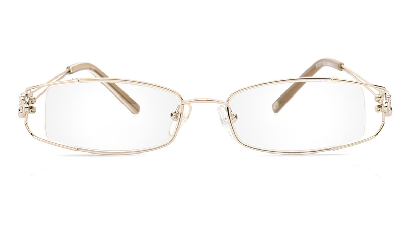 Vista First 1091 Stainless Steel/ZYL Half Rim Womens Optical Glasses