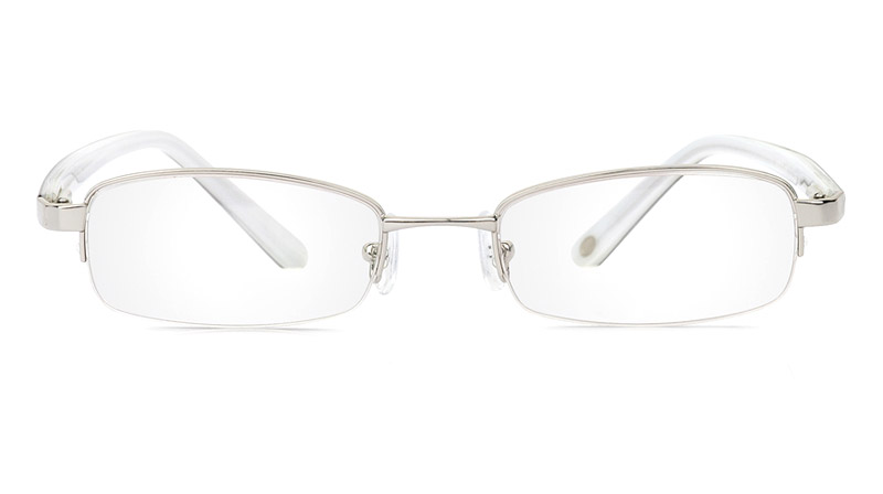 Vista First 1043 Stainless Steel/ZYL Mens&Womens Half Rim Optical Glasses