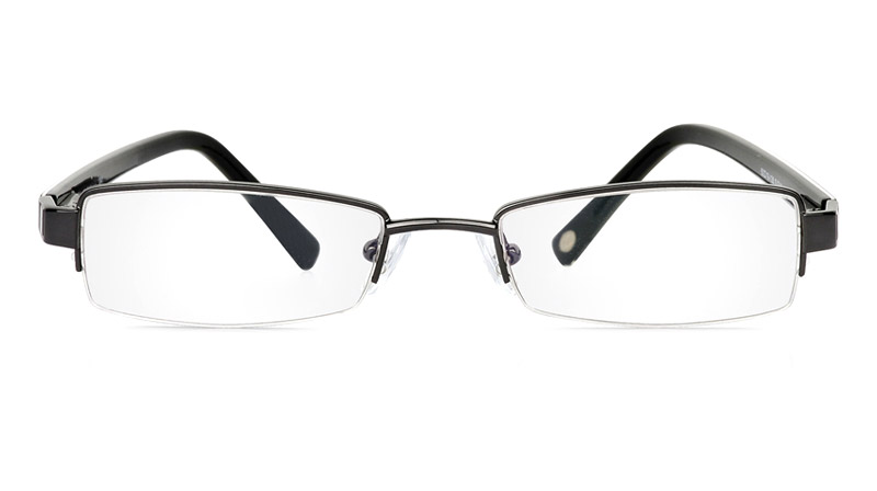 Vista First 1041 Stainless Steel/ZYL Half Rim Mens Optical Glasses