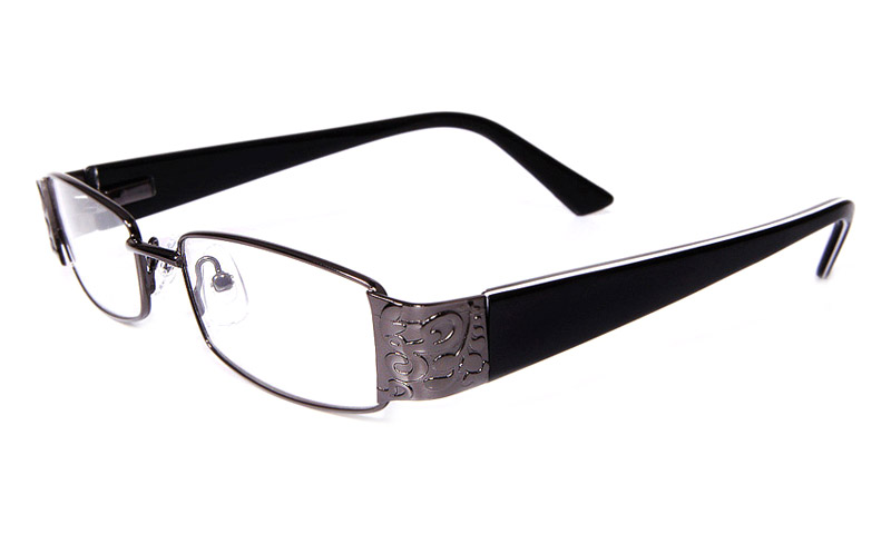Poesia eso6031 Stainless Steel/ZYL Full Rim Womens Optical Glasses