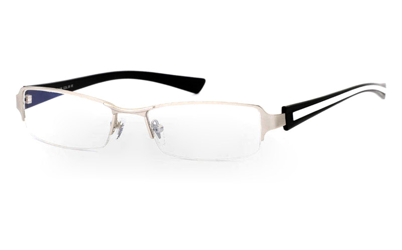 E1029 Stainless Steel Mens&Womens Half Rim Optical Glasses