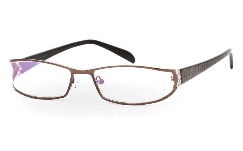 OD-041 Stainless Steel/ZYL Half Rim Womens Optical Glasses