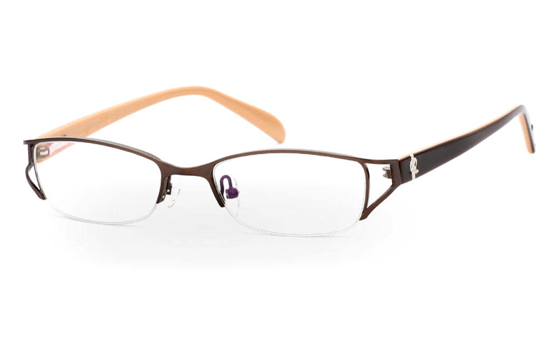 OD-050 Stainless Steel/ZYL Half Rim Womens Optical Glasses