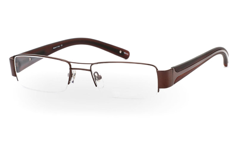 VPR629 Stainless Steel/ZYL Mens&Womens Half Rim Optical Glasses