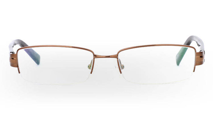 9857 Monel Mens&Womens Half Rim Optical Glasses