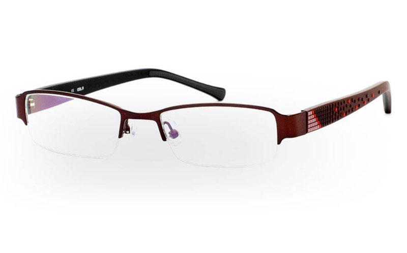 833 Stainless Steel Half Rim Mens Optical Glasses