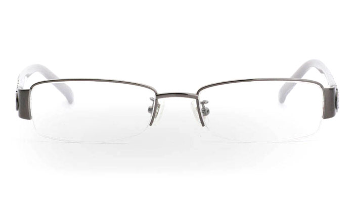 CR3459 Stainless Steel/ZYL Half Rim Womens Optical Glasses