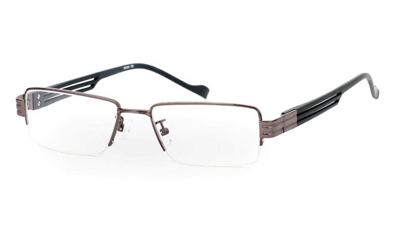 CR3439 Stainless Steel/ZYL Half Rim Mens Optical Glasses
