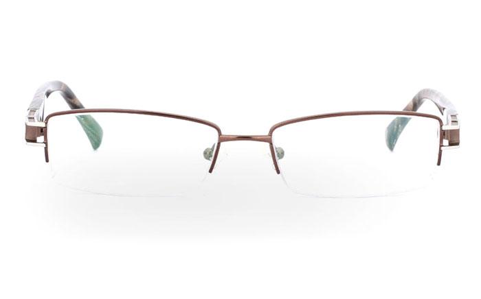 VN-007 Stainless Steel/ZYL Half Rim Mens Optical Glasses