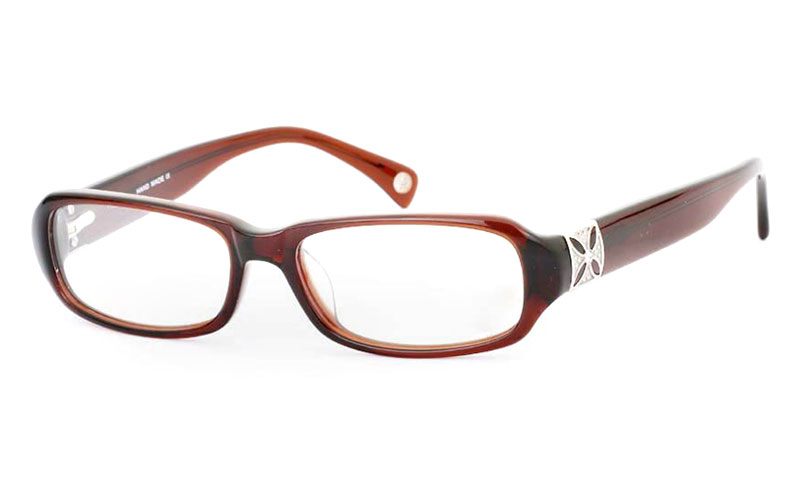 CR3513A Stainless Steel/ZYL Full Rim Womens Optical Glasses