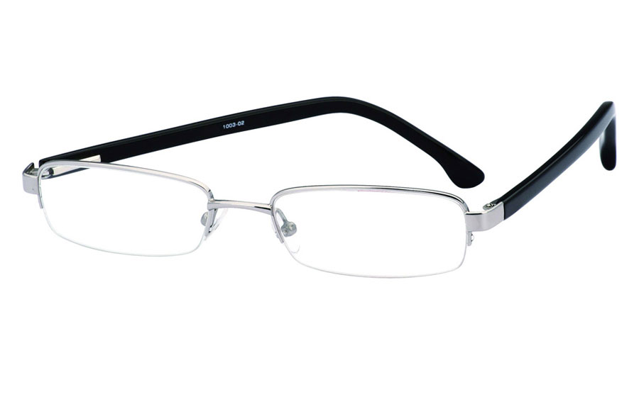 Vista First 1003 Stainless Steel/ZYL Full Rim Mens Optical Glasses
