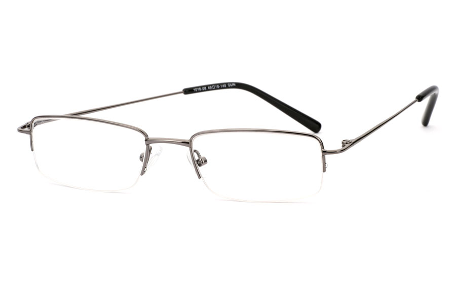 Vista First 1016 Stainless Steel/ZYL Mens&Womens Half Rim Optical Glasses