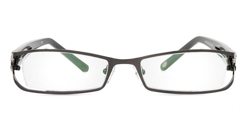 Vista First 1058 Stainless Steel/ZYL Half Rim Womens Optical Glasses