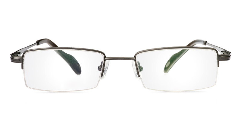 Poesia 1036 Stainless Steel/ZYL Mens&Womens Half Rim Optical Glasses