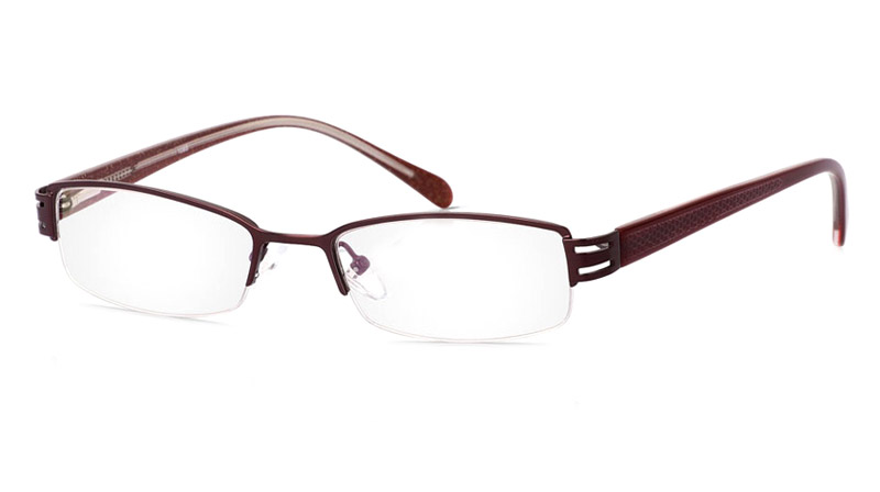 Vista First 1085 Stainless Steel/ZYL Mens&Womens Half Rim Optical Glasses