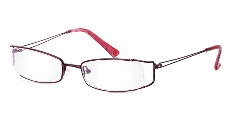Vista First 1806 Stainless Steel Semi-rimless Womens Optical Glasses