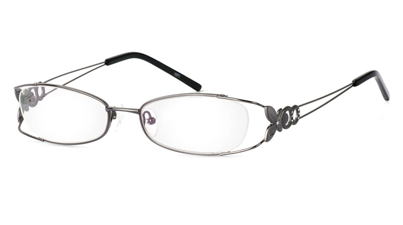 Vista First 1071 Stainless Steel/ZYL Half Rim Womens Optical Glasses