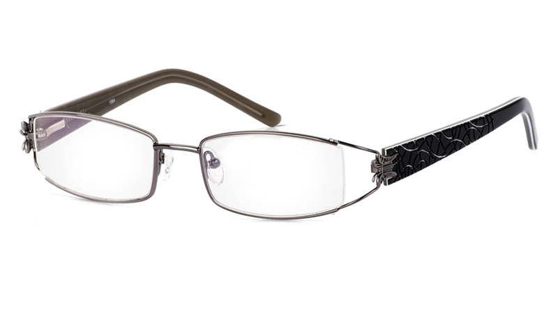 Vista First 1064 Stainless Steel Semi-rimless Womens Optical Glasses