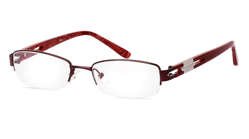 Vista First 1804 Stainless Steel/ZYL Half Rim Womens Optical Glasses