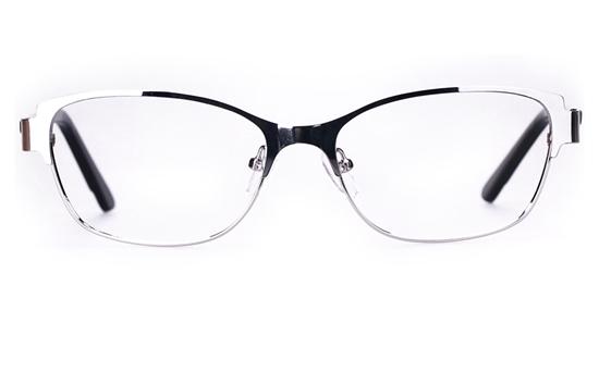Poesia 6043 Stainless Steel Womens Full Rim Optical Glasses