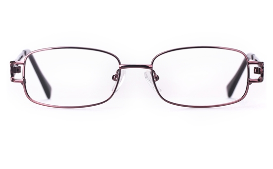 Poesia 6044 Stainless Steel Womens Full Rim Optical Glasses