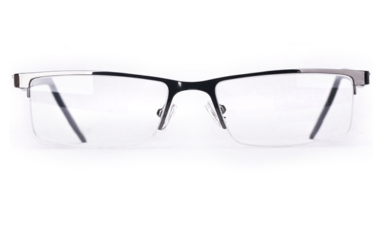 Vista First 8819 Stainless Steel Mens & Womens Semi-rimless Optical Glasses