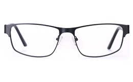 Vista First 1632 Stainless Steel/ZYL Mens Full Rim Optical Glasses for Fashion,Classic,Nose Pads Bifocals