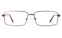 Poesia 7702 Stainless steel/ZYL Mens Full Rim Optical Glasses for Fashion,Classic,Nose Pads Bifocals