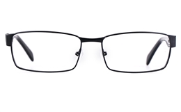 Poesia 7706 Stainless steel/ZYL Mens Full Rim Optical Glasses for Fashion,Classic,Nose Pads Bifocals