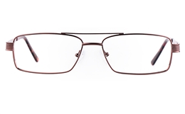 Poesia 7703 Stainless steel/ZYL Mens Full Rim Optical Glasses for Fashion,Classic,Nose Pads Bifocals