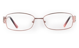 Vista First 8825 Stainless steel/ZYL Womens Full Rim Optical Glasses for Fashion,Classic,Nose Pads Bifocals