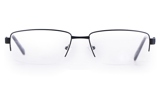 Poesia 7705 Stainless steel/ZYL Mens Semi-rimless Optical Glasses