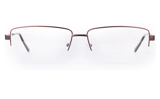 Poesia 7701 Stainless steel/ZYL Mens Semi-rimless Optical Glasses