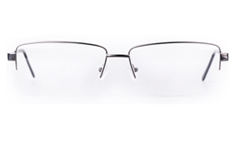 Poesia 7701 Stainless steel/ZYL Mens Semi-rimless Optical Glasses for Fashion,Classic,Nose Pads Bifocals
