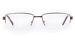 Poesia 7705 Stainless steel/ZYL Mens Semi-rimless Optical Glasses for Fashion,Classic,Nose Pads Bifocals