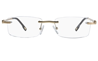 Vista First 8901 Stainless steel/ZYL Mens Rimless Optical Glasses
