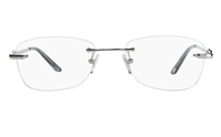 Vista First 8909 Stainless steel/ZYL Womens Rimless Optical Glasses