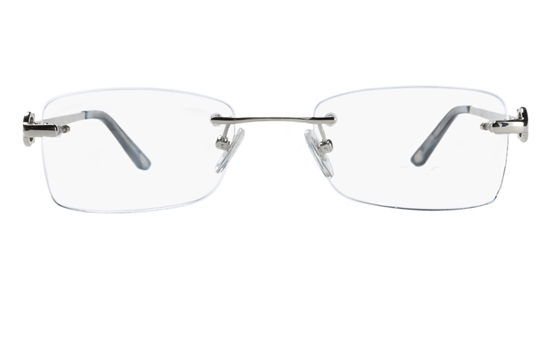 Vista First 8912 Stainless steel/ZYL Womens Rimless Optical Glasses