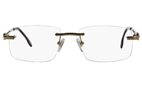 Vista First 8925 Stainless steel/ZYL Mens Rimless Optical Glasses