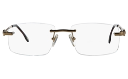 Vista First 8925 Stainless steel/ZYL Mens Rimless Optical Glasses for Fashion,Classic,Nose Pads Bifocals