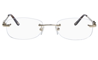 Vista First 8927 Stainless steel/ZYL Womens Rimless Optical Glasses
