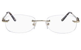 Vista First 8927 Stainless steel/ZYL Womens Rimless Optical Glasses for Fashion,Classic,Nose Pads Bifocals
