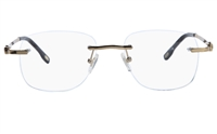 Vista First 8926 Stainless steel/ZYL Mens Rimless Optical Glasses