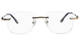 Vista First 8926 Stainless steel/ZYL Mens Rimless Optical Glasses for Fashion,Classic,Nose Pads Bifocals