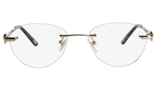 Vista First 8929 Stainless steel/ZYL Womens Rimless Optical Glasses