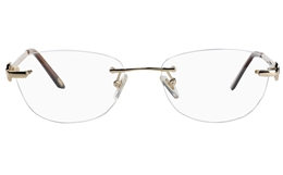 Vista First 8930 Stainless steel/ZYL Womens Rimless Optical Glasses for Fashion,Classic,Nose Pads Bifocals