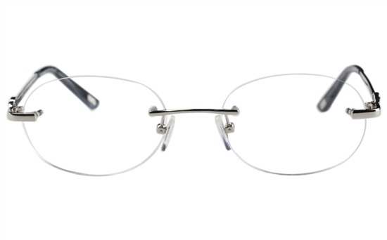 Vista First 8933 Stainless steel/ZYL Womens Rimless Optical Glasses