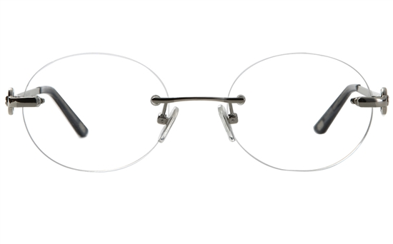 Vista First 8932 Stainless steel/ZYL Womens Rimless Optical Glasses